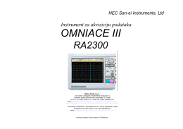 NEC OMNIACE III RA2300 - Analizator-rekorder sa po