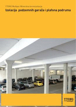 Izolacija podzemnih garaža i plafona podruma