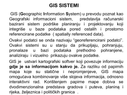 gis sistemi