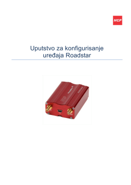 Konfigurisanje uređaja Roadstar