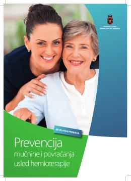 Prevencija mučnine i povraćanja usled hemioterapije