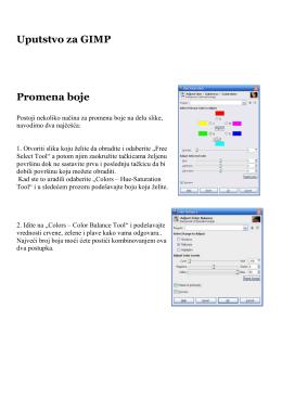 Neka Uputstva za GIMP
