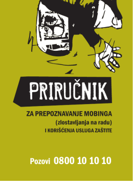 Приручник о мобингу - Tehnicka skola GSP