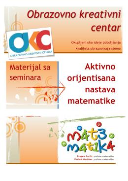 Aktivno orijentisana nastava matematike
