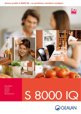 Sistem profila S 8000 IQ - Fenster Line PVC stolarija