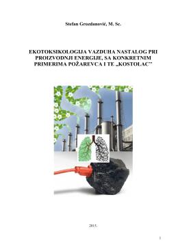 ekotoksikologija vazduha nastalog pri proizvodnji