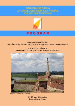 Program tema i predavača za teoretski deo škole