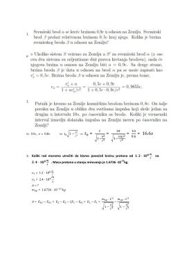 Задаци за први тест из физике за 4/1 област Теорија