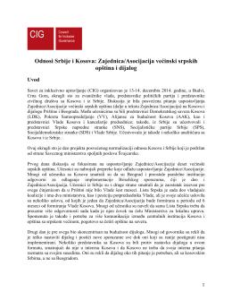 Zajednica/Asocijacija većinski srpskih opština i dijalog