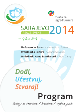 Program - Peace Event 2014
