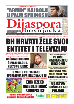 Dijaspora Jan 2008 - Bosnian Media Group