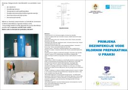 primjena dezinfekcije vode hlornim preparatima u praksi primjena