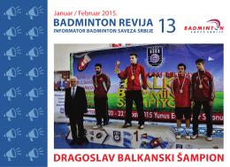 OVDE - Badminton Savez Srbije