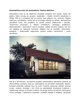 Samoodrživa kuća po postulatima Tesline doktrine