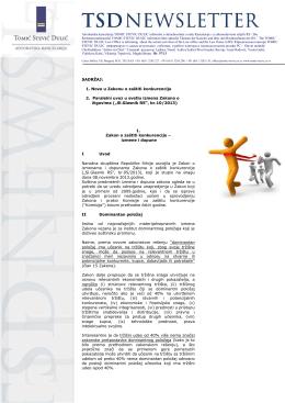 Newsletter 57 - TOMIĆ SINDJELIĆ GROZA