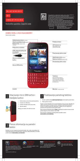 Ubacivanje micro SIM kartice i medijske kartice