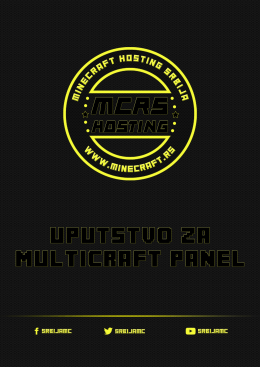Uputstvo za Multicraft panel