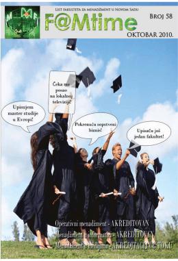 FAMtime 58 - Fakultet za menadžment