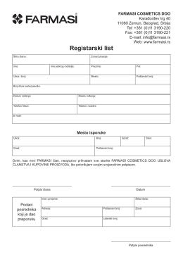 Registracioni list