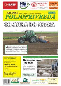 Sremska poljoprivreda broj 37 11. april 2014.