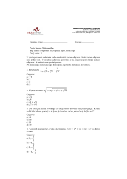 Test iz matematike 1 (pdf)