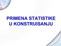 Statistika u konstruisanju