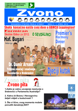 Školsko zvono broj 3, 1.4.2012 - Bosanska etnička škola Sydney