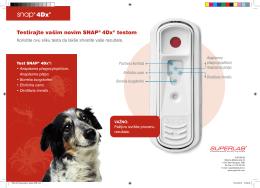 Testirajte vašim novim SNAP® 4Dx® testom