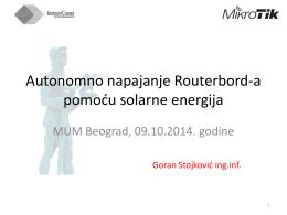 Autonomno napajanje Routerbord-a pomoću - MUM
