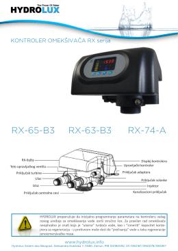Uputstvo za programiranje RX kontrolera