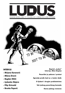 ludus171 172 - Udruženje dramskih umetnika Srbije