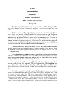 1 A. Šercer Otorinolaringologija Propedeutika Fizikalne metode