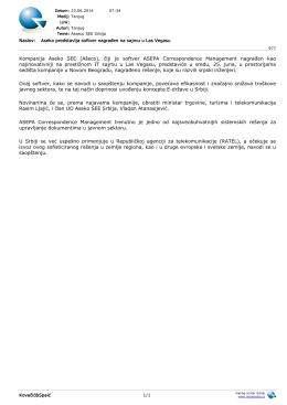 Kompanija Aseko SEE (Ašeco), čiji je softver ASEPA