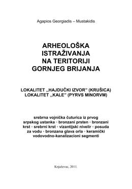 Драган Ђорђевиђ - Брка: Археолошка истраживања Пусте Реке