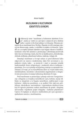 Muslimani u kulturnom identitetu Evrope