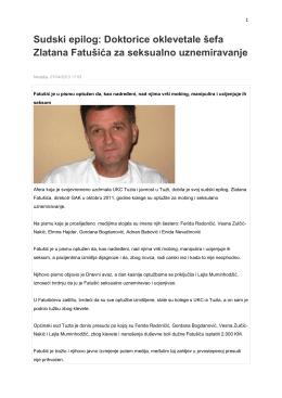 Sudski epilog: Doktorice oklevetale šefa Zlatana