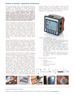 Sistem za merenje i arhiviranje temperature na bazi kontrolera Horner
