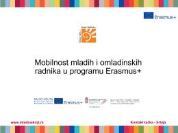 04-1 Mobilnost mladih i omladinskih radnika u programu Erasmus+