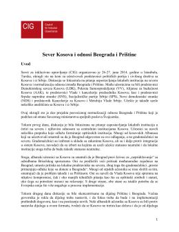 Sever Kosova i odnosi Beograda i Prištine