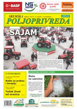 Sremska poljoprivreda broj 16. 31. maj 2013.