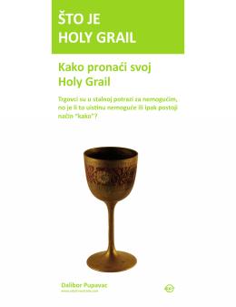 ŠTO JE HOLY GRAIL
