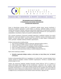 CDT – rezultati istrazivanja