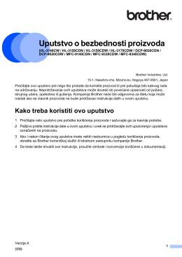Uputstvo o bezbednosti proizvoda1