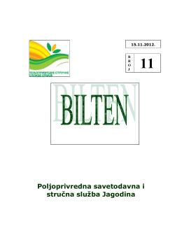ratarstvo - Poljoprivredna Savetodavna i Stručna Služba Srbije