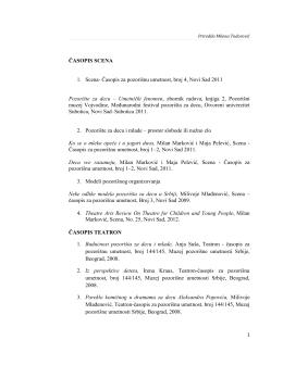 ČASOPIS SCENA - Assitej Srbija