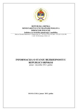 01.02.2013 Informacija o stanju bezbjednosti u