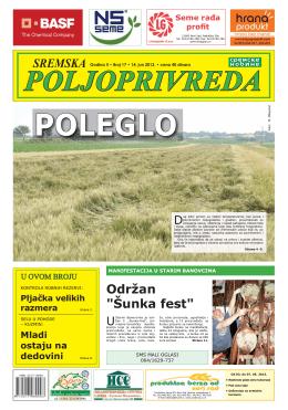 Sremska poljoprivreda broj 17. 14. jun 2013.