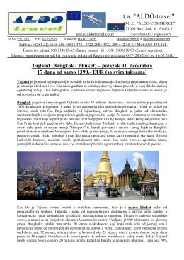 Tajland-BKK+Phuket-01. decembar 2012-17 dana-NEW