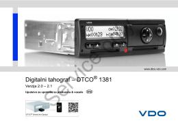 Digitalni tahograf – DTCO 1381