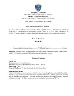 Vise - Këshilli Gjyqësor i Kosovës